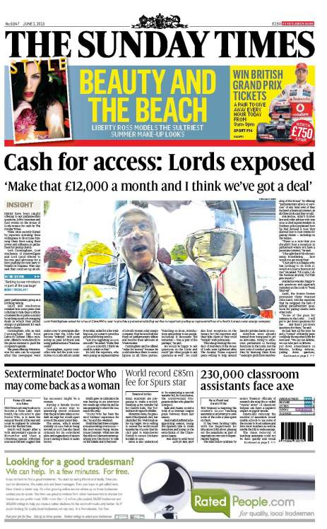 Cash for access - Lords exposed
