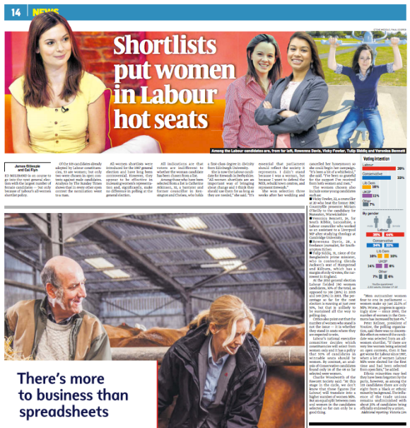 Shortlists put women in Labour hot seats