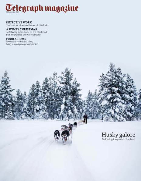 Arctic winter cover - Telegraph magazine