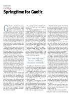 Springtime for Gaelic - New Statesman