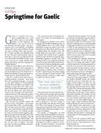 Springtime for Gaelic - New Statesman