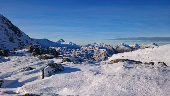 adrian hopkins - view from Sgurr Mor